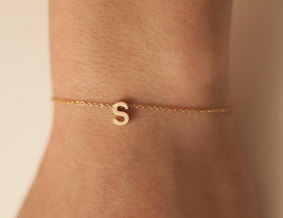 gouden armband met letter