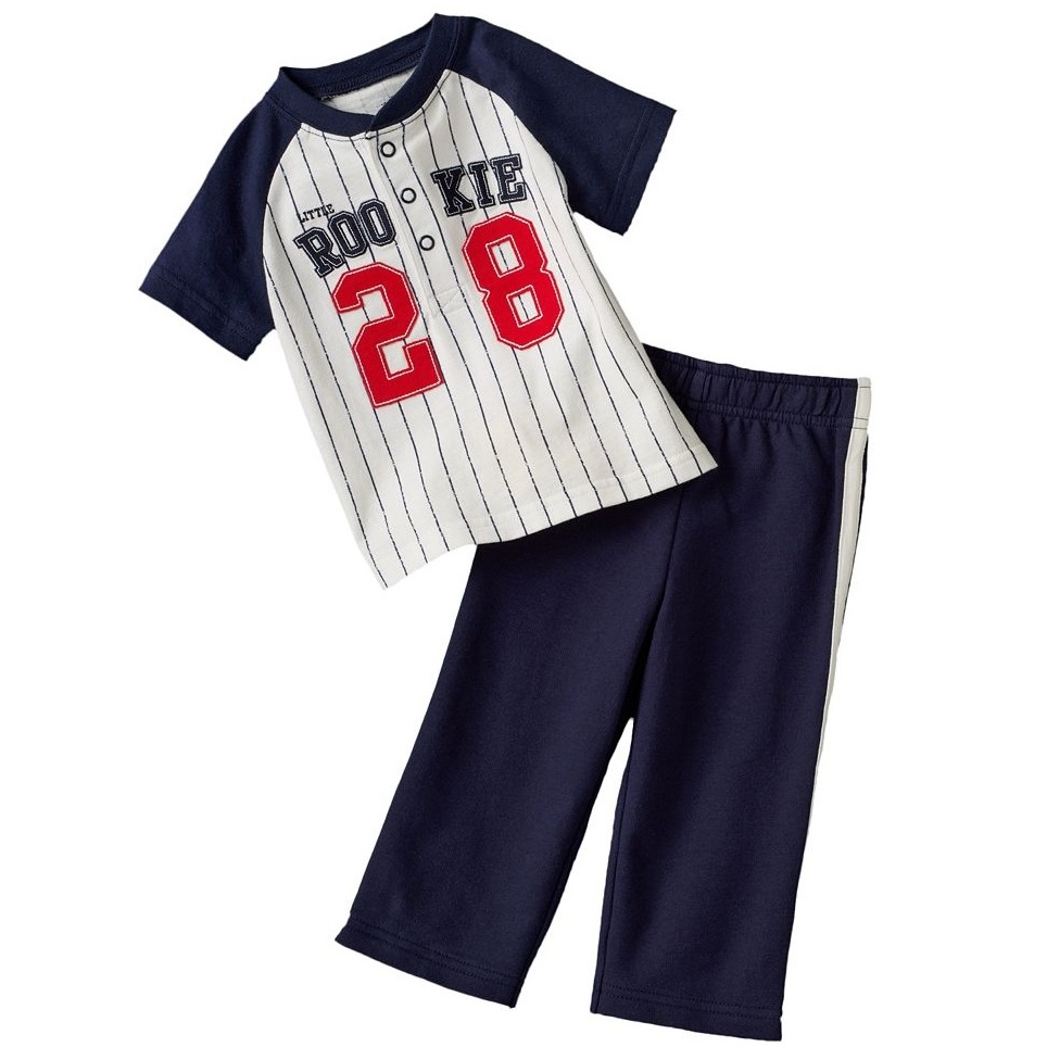 92ce713180d7 Boy s Tracksuits Stripe Baby suits Tees Shirt Pants sets baseball ...