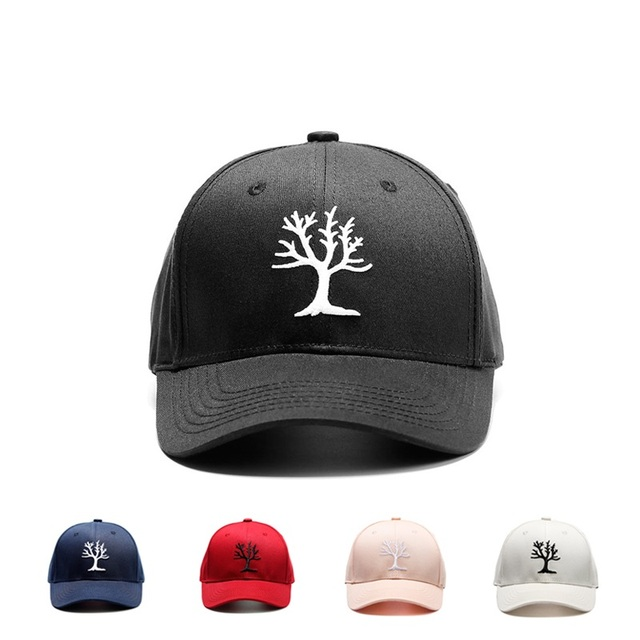 c0e5397a30a High Quality Embroidered Tree Dad Cap Baseball Cap Adjustable Hip Hop  Snapback Hats Solid bboy Sports Golf Hat Summer Casqutte