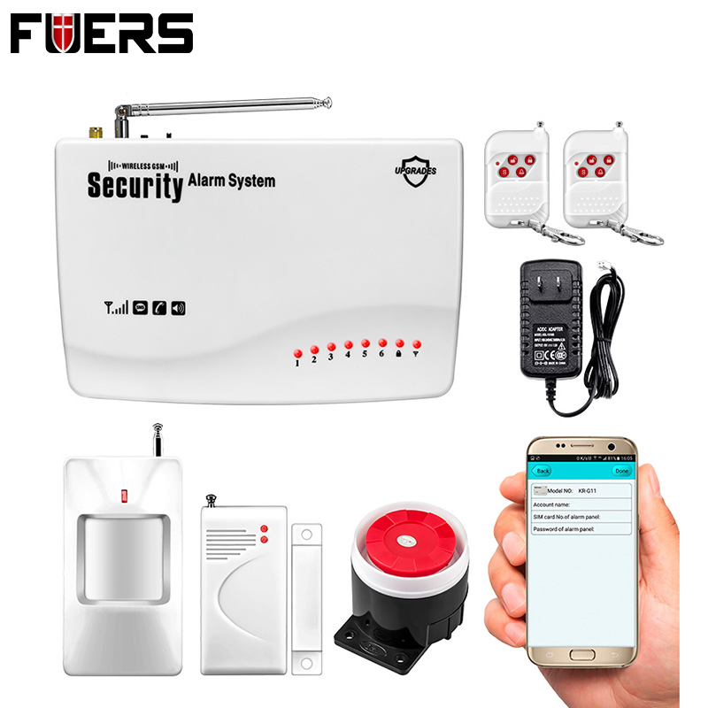 APP IOS/Android Remote Control ARM/Disarm Wireless/Wired Quad 4 Bands GSM Home Burglar Auto Dialer Voice Security Alarm System new wireless wired gsm voice home security burglar android ios alarm system auto dialing dialer sms call remote control setting