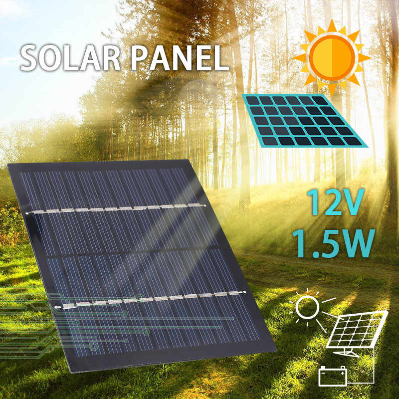 12V 1.5W Solar Panel Standard Epoxy Polycrystalline Silicon DIY Battery Power Charge Module 115x85mm Mini Solar Cell
