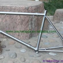 Изготовленная на заказ титановая велосипедная Рама с парой, дешевая титановая рама для шоссейного велосипеда, горячая Распродажа титановая велосипедная Рама с ветерком