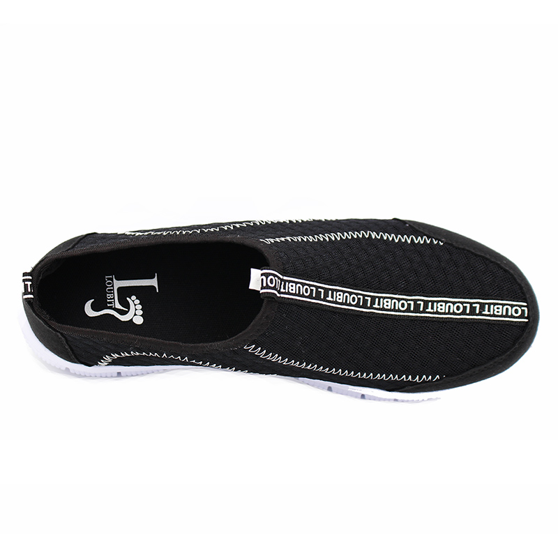 Mode gris Pour Hommes D'été Chaussures Légers Noir 2018 Maille Respirant Sneakres Sneakers Casual Z48qf