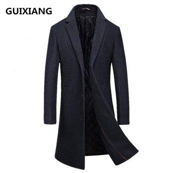 2017 winter new style Men's casual thicken woolen trench coat Men business coats Men's Wool overcoat men jackets FY016