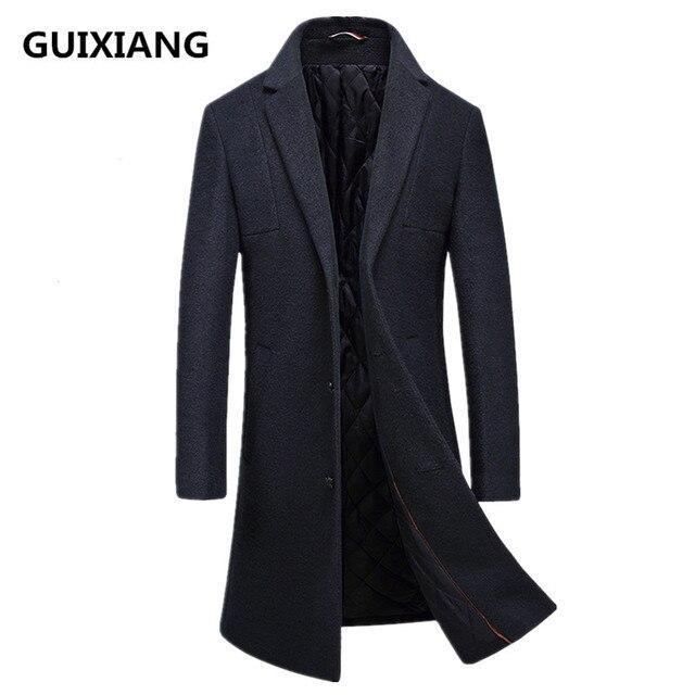 5def92fa0c41b 2017 winter new style Men s casual thicken woolen trench coat Men business coats  Men s Wool overcoat men jackets FY016