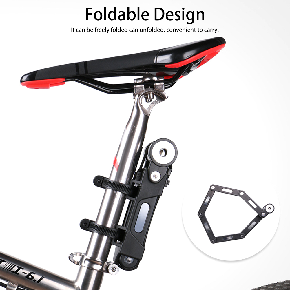Steel Alloy Bicycle Bike Folding Link Plate Lock with Keys Security Anti-theft Bike Lock Alarm Free Shipping цена