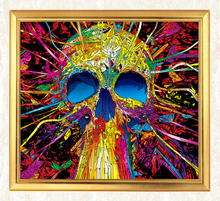 Colorful Eye Catching Skull 5D DIY Diamond Painting Full Square  Embroidery Sale Mosaic Rhinestones