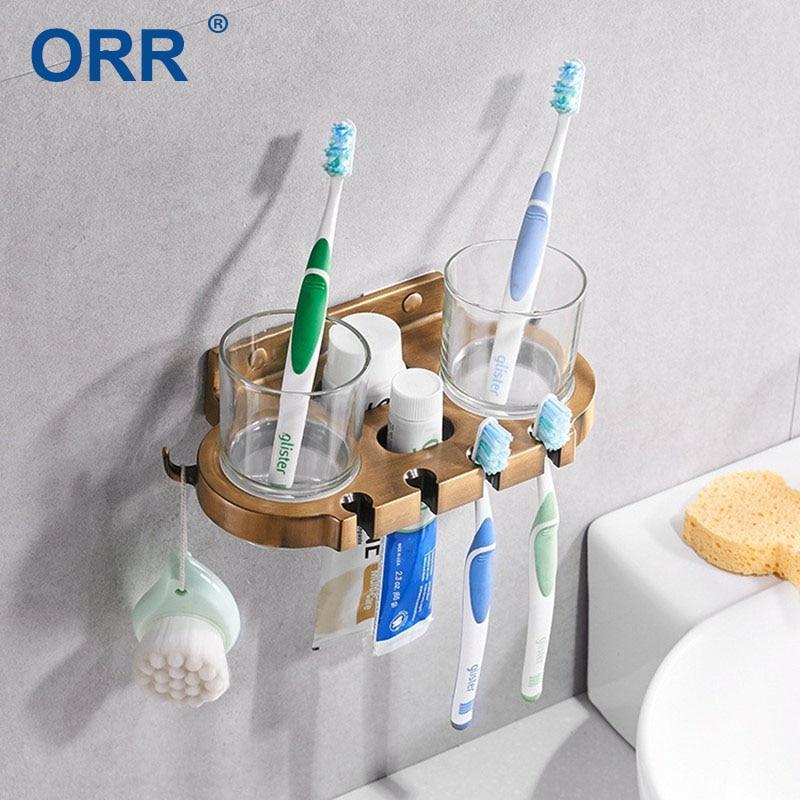 Bathroom toothbrush holder multifunction toothpaste tumbler Accesorios de bano ORR