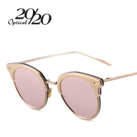 20 20 New Pink Sunglasses Cat Eye Sunglasses Women Glasses Female Sun Glasses Luxury Fashion Women