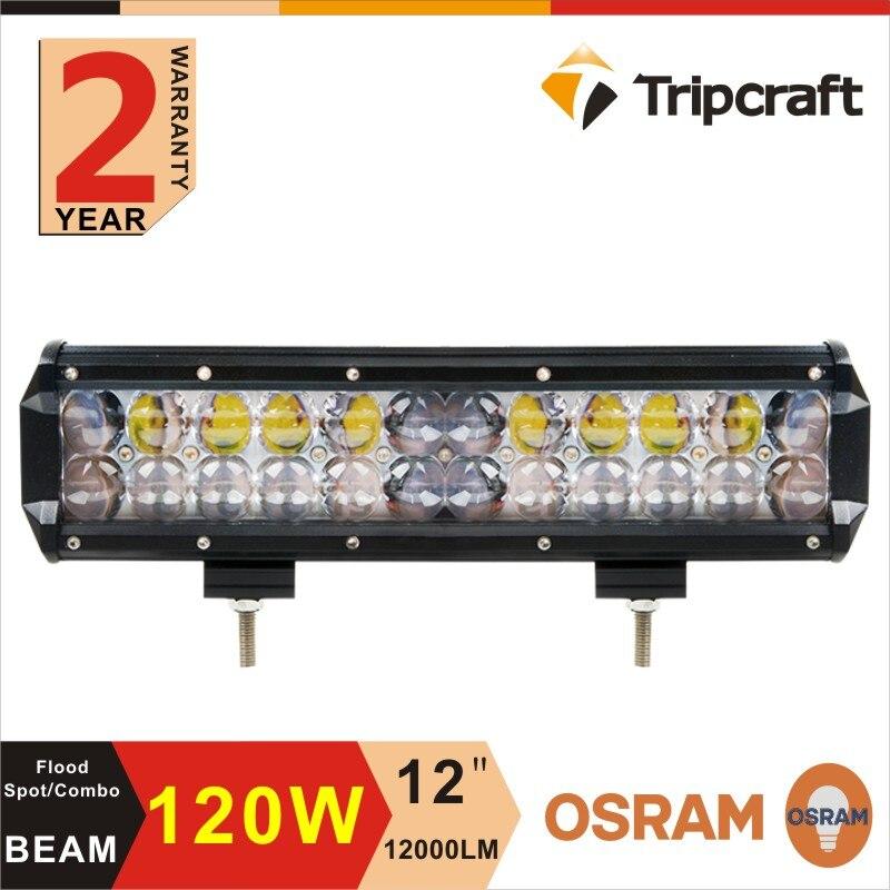 ФОТО 4D 12''Inch 120W Offroad LED Light Bar Spot+Flood Combo Truck Trailer SUV Boat Pick up 4WD 4X4 12V 24V 2 years warranty