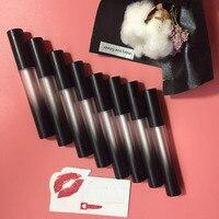 6 ml 10/20/50 cái/lốc cao cấp nhựa hình trụ gradient đen lip gloss/lip oil/về như môi lòng trắng trứng ống rỗng với nắp màu đen