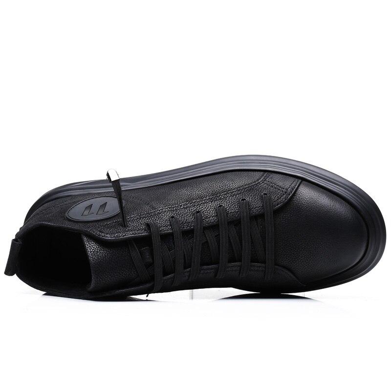 Appartements Disponibles Sport Top 38 Hommes Low Misalwa Flat Mode 46 3 De En Increased Cuir Croissante Grande Chaussures Hauteur Printemps Black Taille Cm Pour OUwEZw