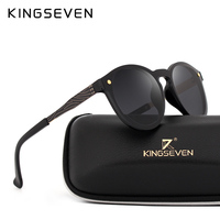 KINGSEVEN Cat S Eye Sunglasses Candy Colored Round Mirror Metal Ceiling Mirror Flat Mirror Sun Ladies