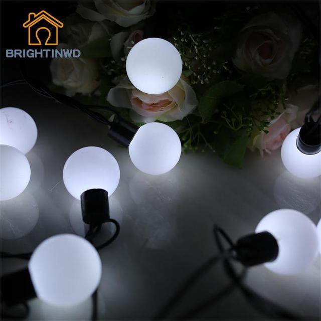 Enchufe de LA UE de La Novedad 4 CM Gran Tamaño 20 Bola 5 M LED Cadena Estrellado Luces de Navidad de La Boda Decoración de Interior Al Aire Libre cadena de Iluminación