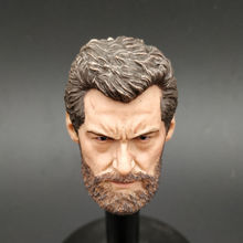 Custom 1/6 Scale Wolverine Head Sculpt Male Soldier Old Logan Carving Model toys