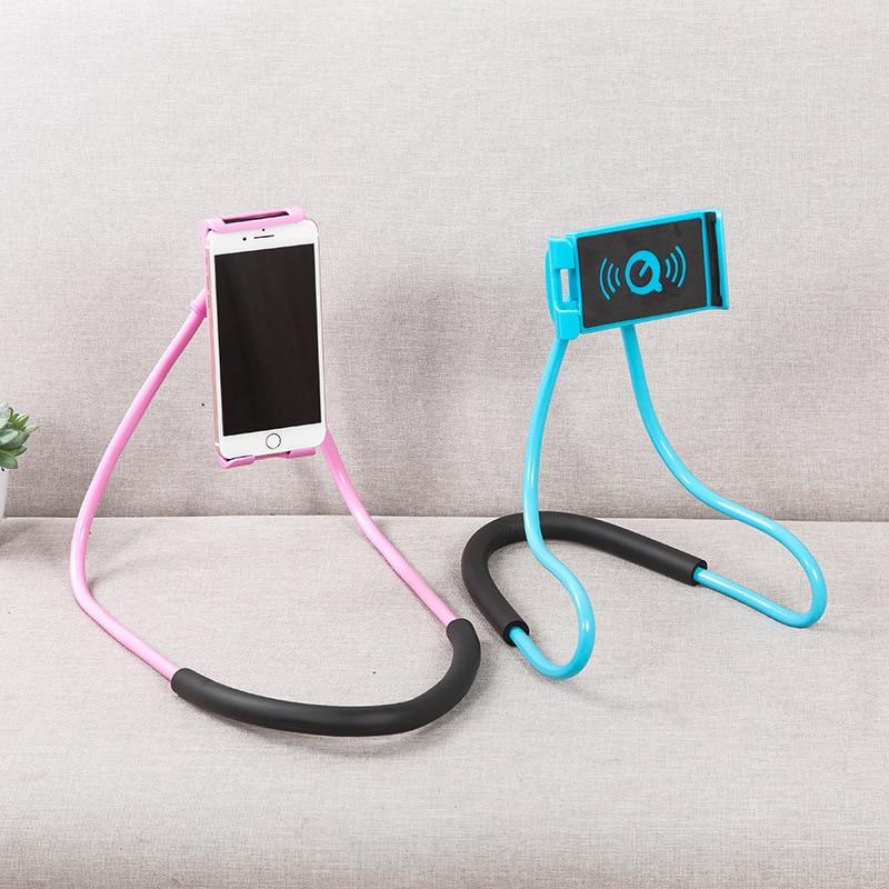 Lazy Bracket Universal 360 Degree Rotation Flexible Phone Selfie Holder Snake-like Neck Bed Mount Anti-skid For iPhone Android