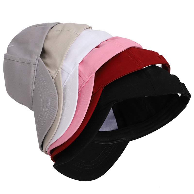 Solid Color Ponytail Baseball Cap Women Ladies Hat Open Mouth Red Pink White Black 5 Colors in Women 39 s Baseball Caps from Apparel Accessories