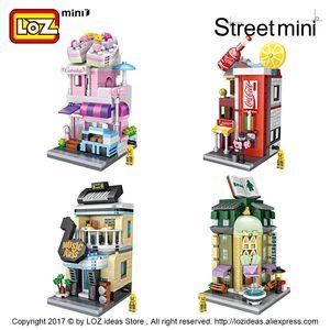 Image 3 - LOZ Mini cegły architektura Mini Model uliczny ciasto sklep sklep budynek montaż zabawka miasto plac zestaw bloku księgarnia prezent dla dzieci