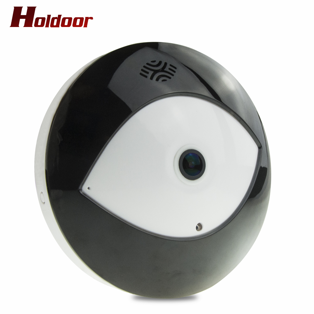 Holdoor 1280*960 360 Degree Fisheye Panoramic Camera HD Wireless VR Panorama HD IP camera P2P Indoor Cam Security WiFi Camera erasmart hd 960p p2p network wireless 360 panoramic fisheye digital zoom camera white