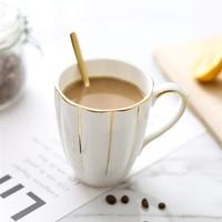 Europe High grade bone china coffee cup Golden rim Pumpkin Mug Milk Tea Cups Cat ear handle Afternoon Tea Cup Gift Box 400ML