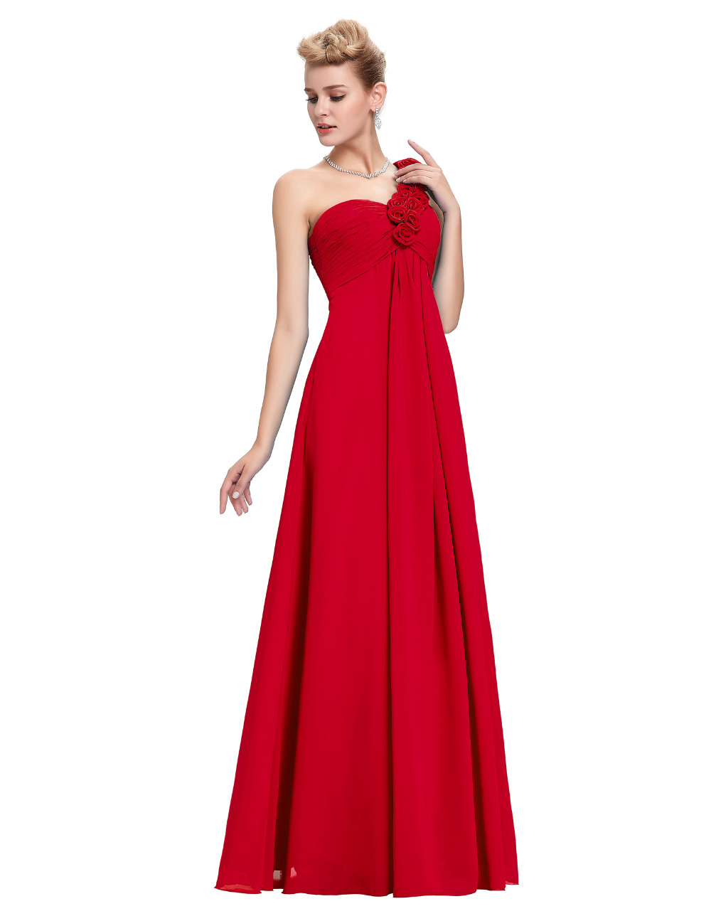 Cheap Plus Size Red Formal Dress