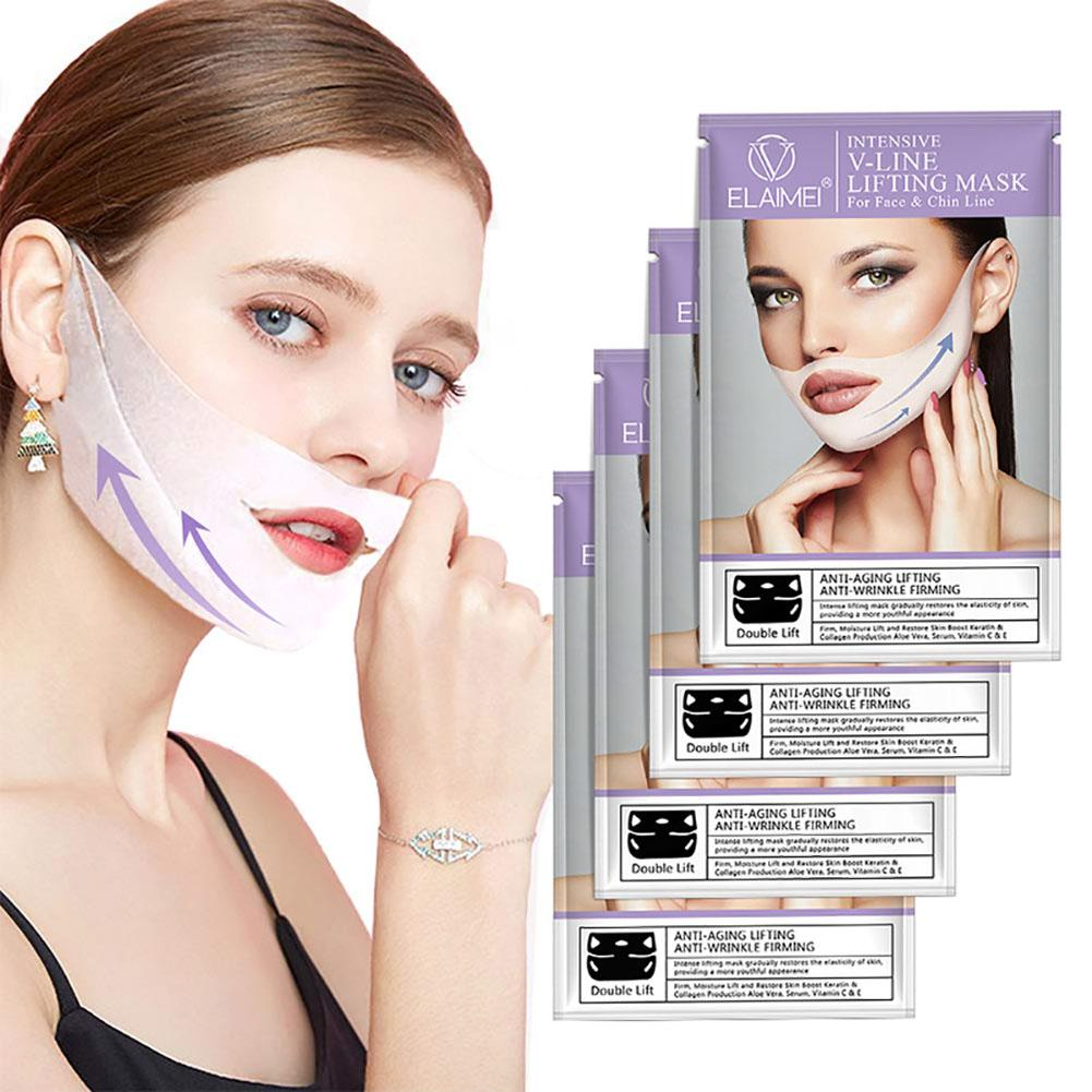 Lifting Band Patch for Face and Chin Line Reduces Double Chin V Line Chin Up Firming Moisturizing Mask in Face Skin Care Tools from Beauty Health