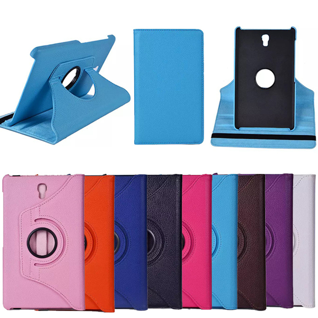 "360 Rotating PU Leather Case Cover For Samsung Galaxy Tab S 8.4 T700 T701 T705 (SM-T700) 8.4"" Stand Protect Flip Tablets Cases"