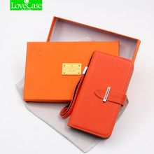 LoveCase Wallet Style Leather Case for iPhone X 7 8 Plus Luxury Cover Flip Phone Bag Case for iPhone XS Max H metal buckle