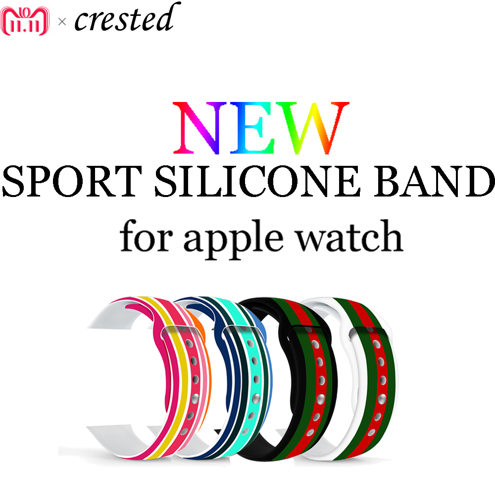 NEW sport strap band for Apple watch 3/2/1 42mm/38mm silicone watchband for Iwatch Watch accessories bracelet wrist belt joyozy sport silicone band strap for apple watch nike 42mm 38mm bracelet wrist band protector watch watchband for iwatch 3 2 1