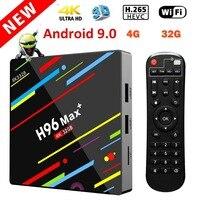 H96 Max+ TV Box Android 9.0 4GB 32GB TV Box RK3328 4K Smart TV Box Support H265 WIFI/100M/LAN/BT4.0 RAM Set Top Box Smart Player