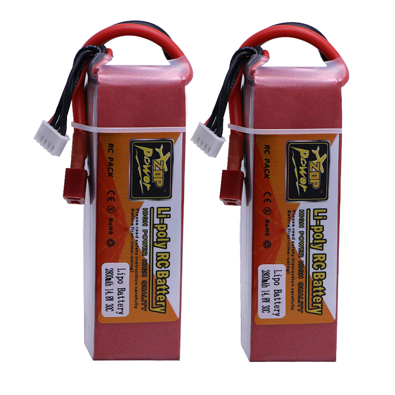 2 pcs Li-PO battery 14.8V 2800mAh 30C 4S T Plug for FT010 FT011 RC boat Lipo Battery Free shipping