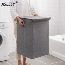 Large Storage Hamper Linen Box Organizer Bag Home Foldable Washable Flip Cover Multi-functional Clothing Bucket