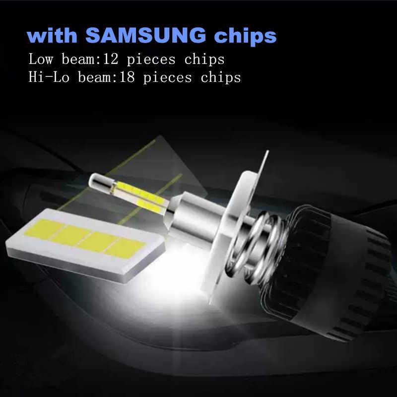 Inlong H7 LED Headlight Bulbs H11 H1 H8 H4 9005 9006 D2S D1S D3S SAMAUNG Chip 80W 10800LM 6500K Car Led Auto Headlamp Headlights