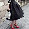 Nuevo Satén Faldas Largas Faldas Maxi Falda de Cintura Alta de La Vendimia prendas de Vestir para mujer Saias Jupe Femme vestido de Bola Falda Hepburn Falda C1796