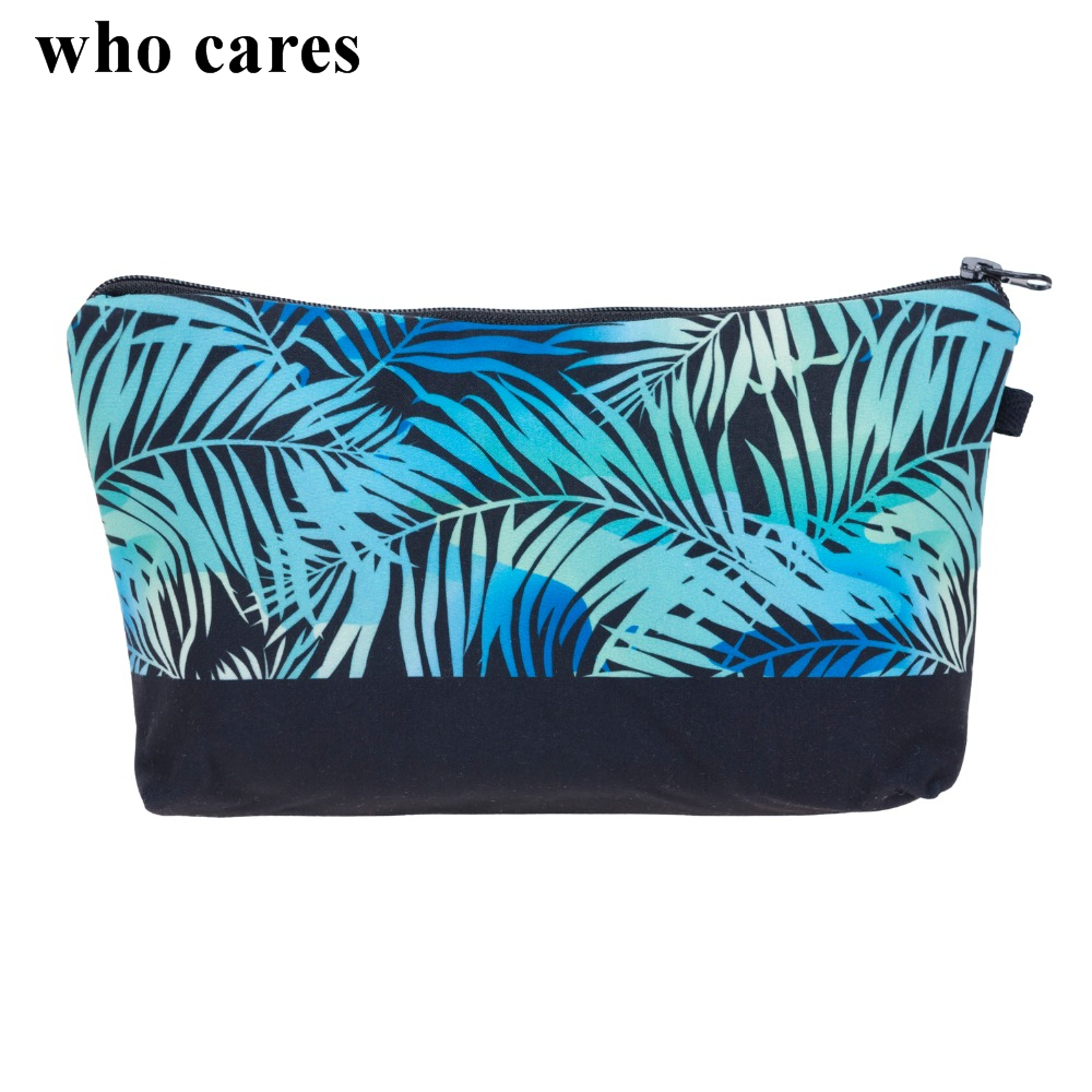 Weed Flower Rose 3D Printing Makeup Bag Maleta de Maquiagem Cosmetic Bag necessaire bags Organizer Party neceser maquillaje who cares tropic hawaii with flamingo 3d printing cosmetic bag women fashion brand organizer neceser maquillaje girls makeup bag