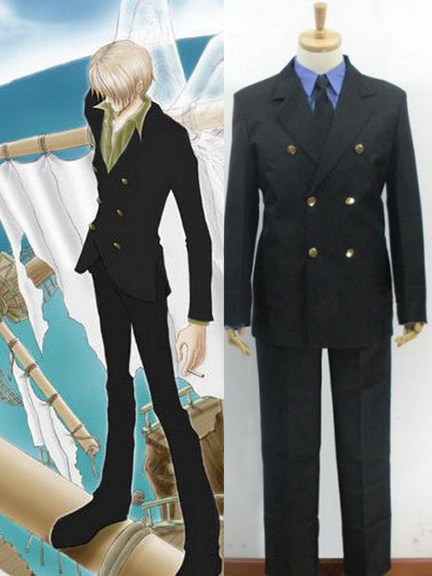 One Piece Sanji Cosplay Costume Cosplay Wig Cosplay Ringcosplay Outfit Aliexpress
