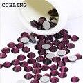 CCBLING Crystal Amethyst ss3-ss30 bag Nail Rhinestones Flat Back Non Hotfix Glitter Nail Stones,DIY 3d Nail Phones Decorations