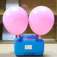 B312N Wedding Decoration Digital Timer Electric Balloon Inflator Double hole pump For round latex balloons