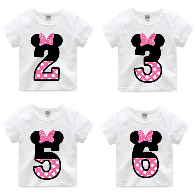 new arrivalgirl happy birthday letter bow cute print t shirts kid summer tee