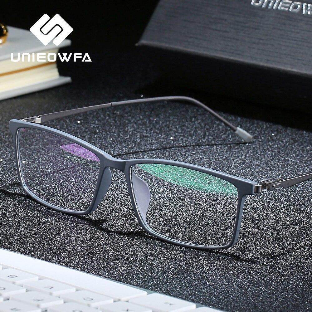 UNIEOWFA-gafas ópticas para miopía TR90 ultralivianas, montura completa rectangular, graduadas, montura coreana