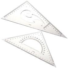 XRHYY набор из 2шт 30/60, 45 градусов треугольная линейка транспортира инструмент для рисования