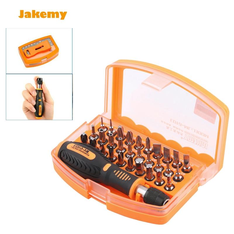 Universal 31in 1 JM-6103 Multi Function Screwdriver Set opening tool home repair, electric repairing tools kit screw driver bits  цены