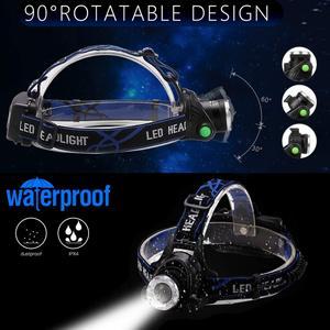 Image 5 - 강력한 전조등 T6/L2/V6 충전식 LED 헤드 라이트 바디 모션 센서 헤드 손전등 캠핑 토치 라이트 램프 낚시