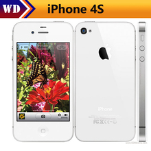 Original Unlocked Apple iPhone 4S Phone 8GB/16GB/32GB/64GB ROM GSM WCDMA WIFI GPS 3.5'' 8MP Camera Mobile Phone Used iphone4s