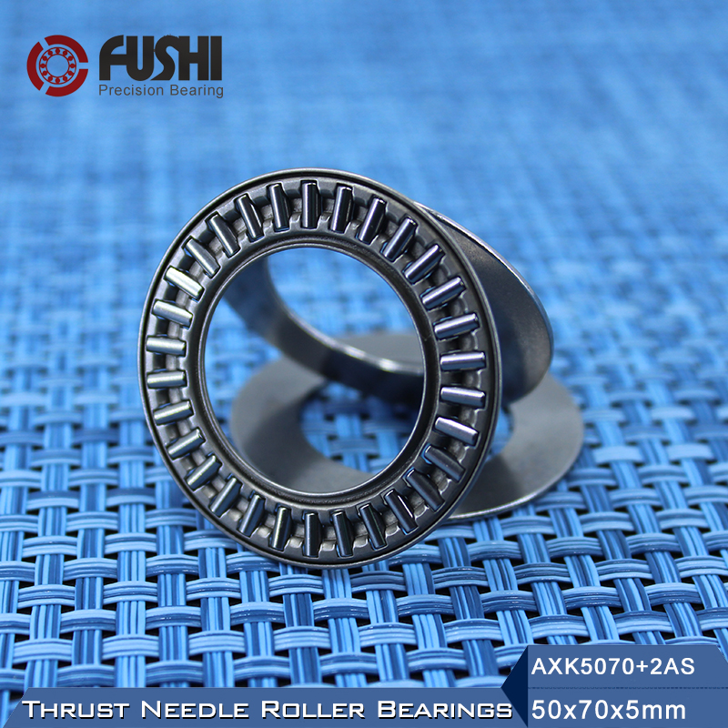 2 pcs AXK5070 50x70 Needle Roller Thrust Bearing complete with 2 AS washers