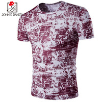 New Brand 2017 Male Slim Fit T Shirt Breathable Printing Mens Cotton Short Sleeve T Shirts