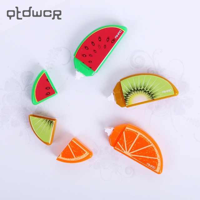 3PCS Fruit Decoration Correction Tape Mini Correcting Tapes Correttore Nastro Stationery Office Accessories School Supplies