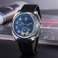 SCUDERIA FERRARI Men's Watch Luxury Brand Clock Quartz Men Watches Multifunctional Military Stop Watch Glowwatch 737849511
