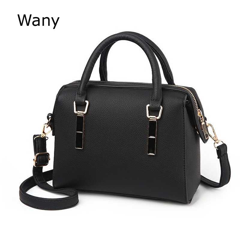 Women new leather handbags designer Boston bags for women Luxury handbag Crossbody female pillow Shoulder bag bolsa feminina leftside fashionable 2017 women tassel designer rivet boston bag female handbag woman hand bags shoulder bag with wide strap