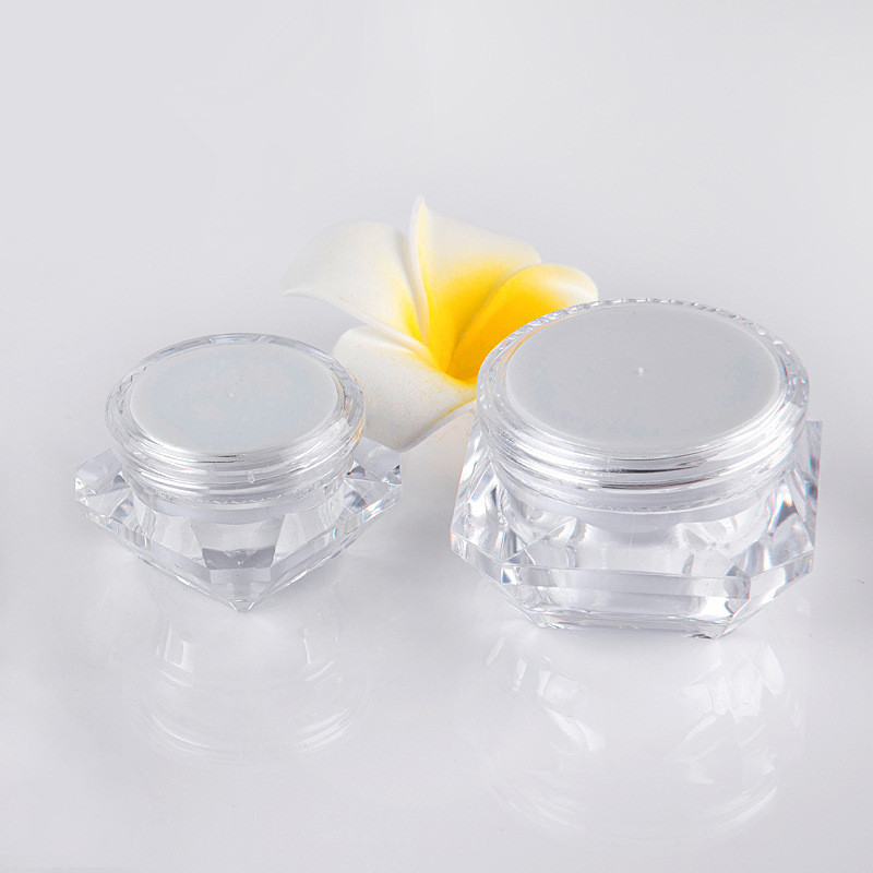 5g 10g 15g  Plastic Jar Clear Plastic Pot For Nail Art Glitters Mini Small Make Up Cream Cosmetic Container New Fashion